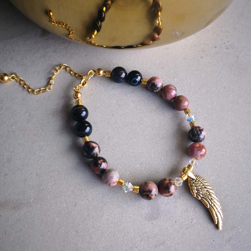 Angel Wing & Rhodonit - Moni Sattler
