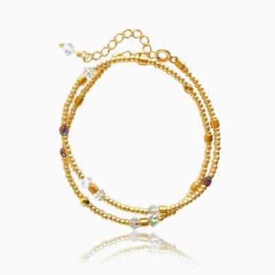 Bohemian double armbånd guld - Moni Sattler