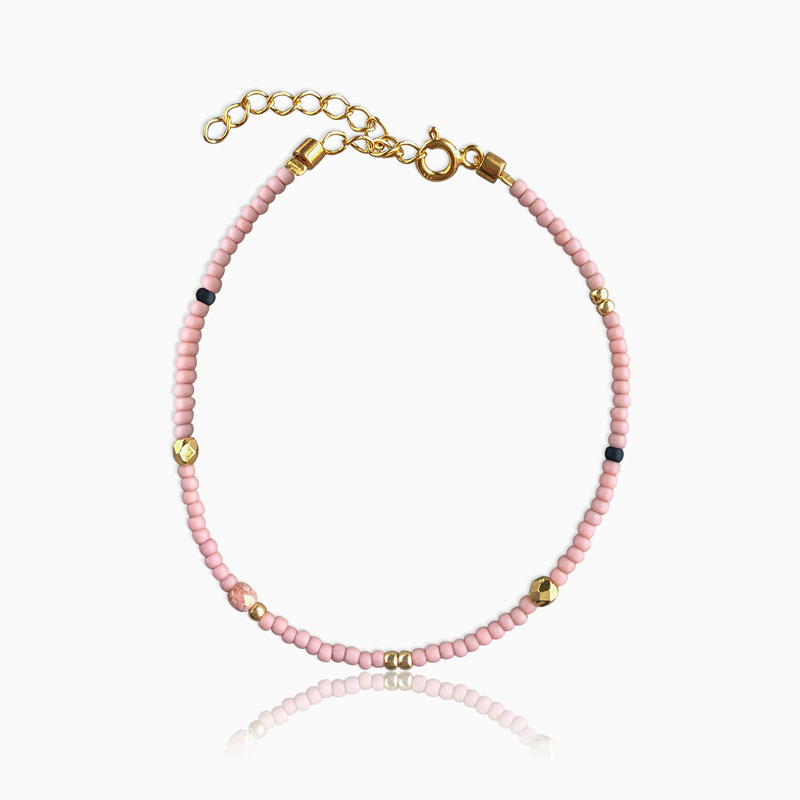 Plain armbånd pink guld - Moni Sattler