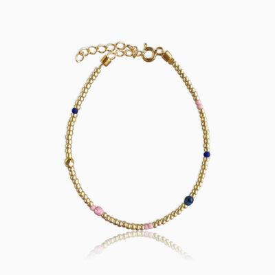 Plain armbånd rainbow guld - Moni Sattler