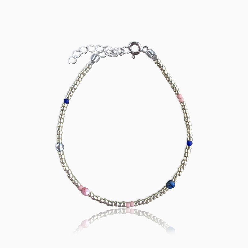 Plain armbånd rainbow sølv - Moni Sattler