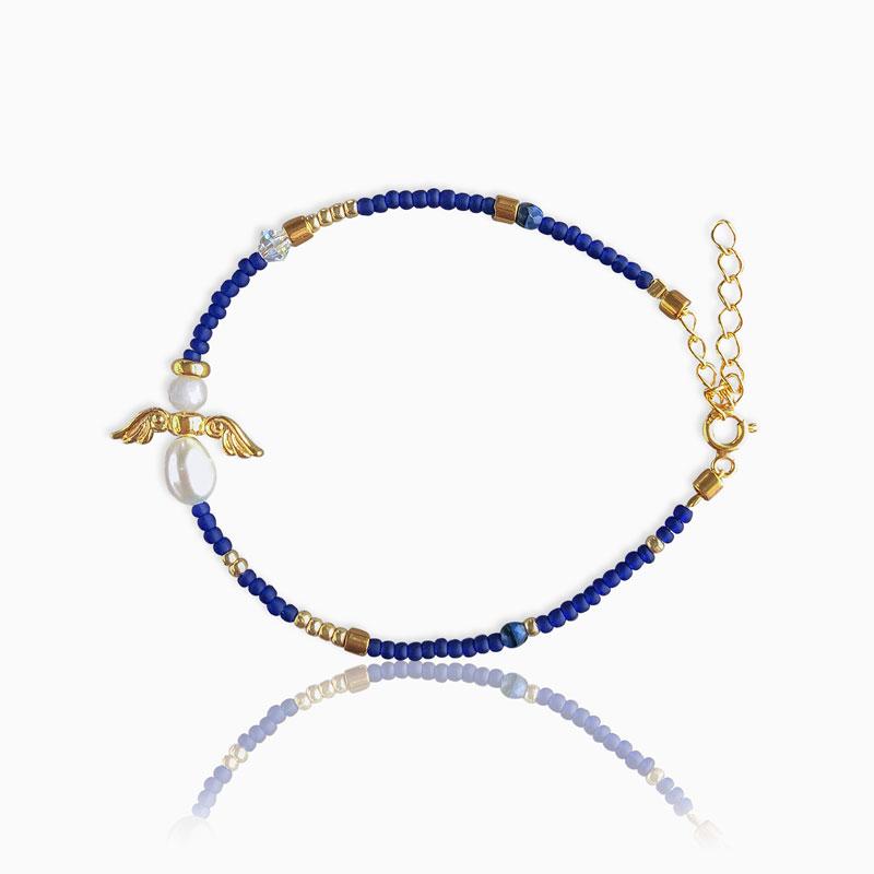 Skytsengel armbånd BLUE - Moni Sattler
