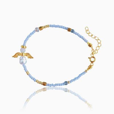 Skytsengel armbånd baby blå - Moni Sattler