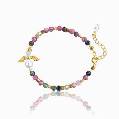 Turmalin skytsengel armbånd- Yin & Yang & Energiflow - Moni Sattler