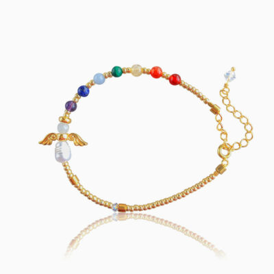 Chakra Skytsengel armbånd - Moni Sattler