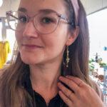 Cute øreringe med Rosakvarts forgyldt – Moni Sattler