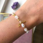 Gioia armbånd med Månesten – Moni Sattler