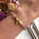 Rosenkvarts armbånd skytsengel – Moni Sattler