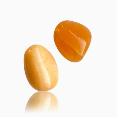 Calcit orange lommesten jumbo - Moni Sattler