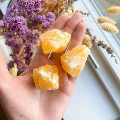 Calcit orange rå - Moni Sattler