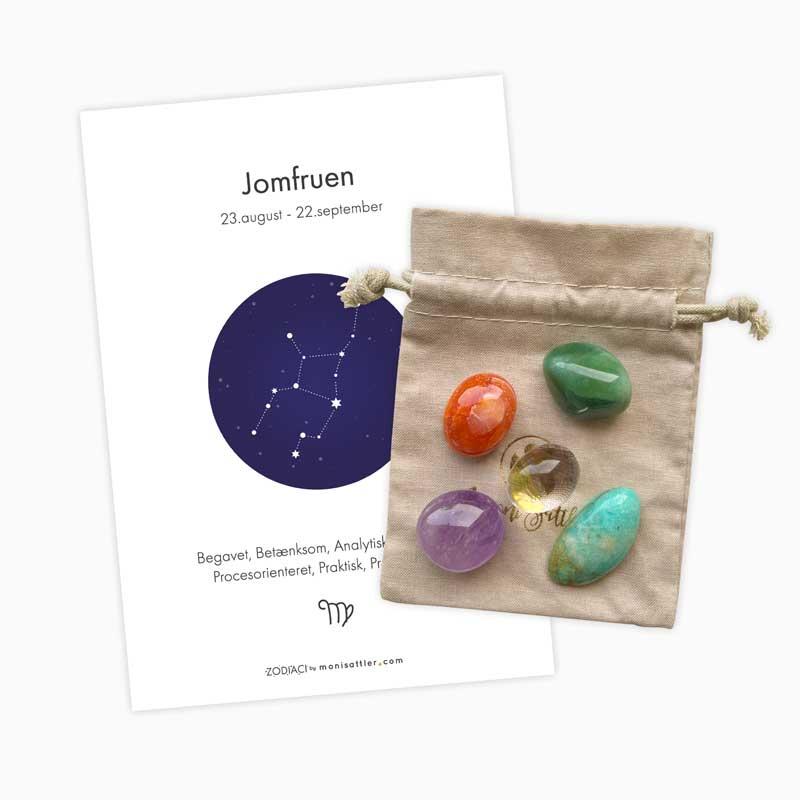 Jomfruen - Zodiaci krystal sæt - Moni Sattler