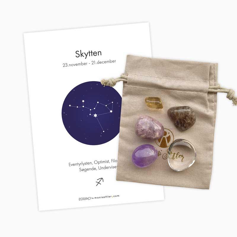 Skytten - Zodiaci krystal sæt - Moni Sattler
