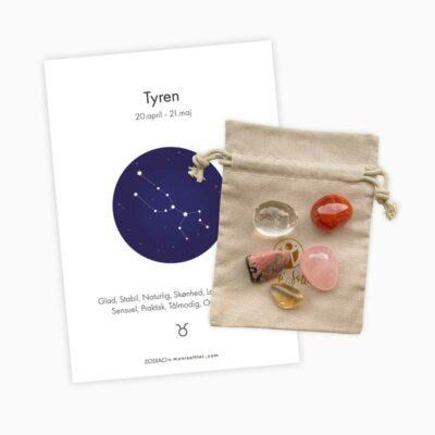 Tyren - Zodiaci krystal sæt - Moni Sattler