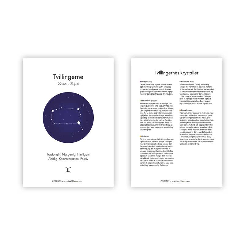 Tvillingerne - Zodiaci