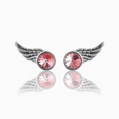 Wing rosa ørestikker - Moni Sattler