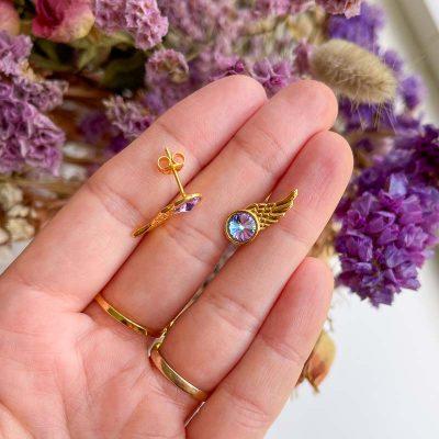 Wing lilla ørestikker - Moni Sattler
